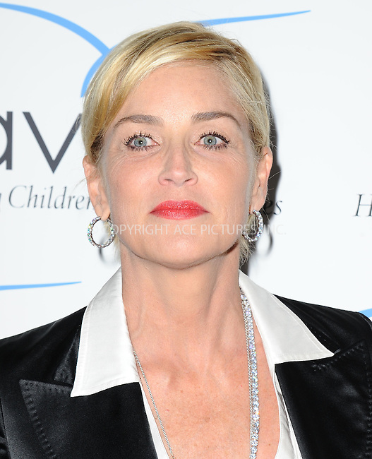 ACEPIXS.COM<br /> <br /> May 31 2014, LA<br /> <br /> Sharon Stone at the Aviva 'A' Gala at the Beverly Wilshire Four Seasons Hotel on May 31, 2014 in Beverly Hills, California. <br /> <br /> By Line: Peter West/ACE Pictures<br /> <br /> ACE Pictures, Inc.<br /> www.acepixs.com<br /> Email: info@acepixs.com<br /> Tel: 646 769 0430