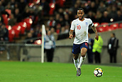 27th March 2018, Wembley Stadium, London, England; International Football Friendly, England versus Italy; Raheem Sterling of England