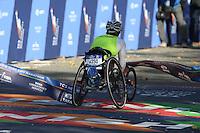 NEW YORK, NY, 06.11.2016 - MARATONA-NEW YORK - Tiffiney Perry da Nova Zelandia durante chegada no Central Park da Maratona Internacional de New York  nos Estados Unidos neste domingo, 06. (Foto: William Volcov/Brazil Photo Press)