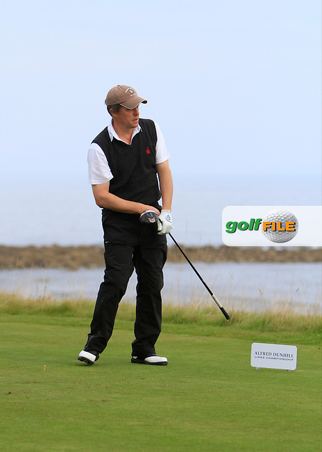 Hugh Grant during Round 2 of the Alfred Dunhill Links Championship at Kingsbarns Golf Club on Friday 27th September 2013.<br /> Picture:  Thos Caffrey / www.golffile.ie