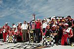 June 14 2009:  LifeLock 400 winner Mark Martin and team at Michigan International Speedway in Brooklyn, MIchigan.