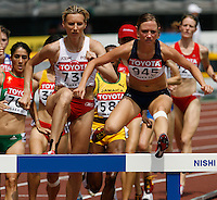 Lindsey Anderson of the USA ran 9:57.00sec in her heat of the 3000m steeplechase at the 11th. IAAF World Championships on Saturday, August 25, 2007. Photo by Errol Anderson,The Sporting Image.