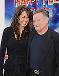 "HOLLYWOOD, CA - NOVEMBER 13: Susan Williams, Robin Williams attend the ""Happy Feet Two"" Los Angeles premiere held at the Grauman's Chinese Theatre on November 13, 2011 in Hollywood, California."