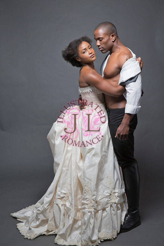 HISTORICAL themed BLACK COUPLE STOCK images for romance novel book cover art by Jenn LeBlanc for Studio Smexy and Illustrated Romance.<br />