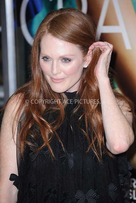 WWW.ACEPIXS.COM . . . . . .July 19, 2011...New York City...Julianne Moore attends the 'Crazy, Stupid, Love.' World Premiere at the Ziegfeld Theater on July 19, 2011 in New York City....Please byline: KRISTIN CALLAHAN - ACEPIXS.COM.. . . . . . ..Ace Pictures, Inc: ..tel: (212) 243 8787 or (646) 769 0430..e-mail: info@acepixs.com..web: http://www.acepixs.com .