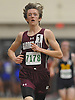 Trevor Marchhart of Garden City stays ahead of the pack in the boys 3,200 meter run during a Nassau County indoor track and field meet at St. Anthony's High School on Wednesday, Nov. 30, 2016. He won the event with a time of 10:00.78.