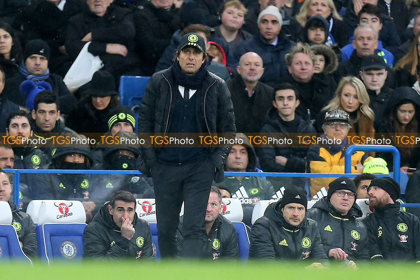 Chelsea manager Antonio Conte during Chelsea vs Swansea City, Premier League Football at Stamford Bridge on 25th February 2017