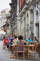 Diners at Sidreria in Calle San Francisco in Aviles, Asturias, Northern Spain
