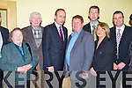 FIANNA  FÁIL: Leader of the the Fianna Fáíl party Micheál Martin with the North Kerry member's of the party at the Brandon hotel, Tralee on Thursday l-r: Mary and Maurice Mahoney, Lixnaw, Micheál Martin Dan Keilly, John Hannon and Nuala Costello, Ballybunion and Niall Collins TD.