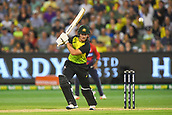 10th February 2018, Melbourne Cricket Ground, Melbourne, Australia; International Twenty20 Cricket, Australia versus England;  D'Arcy Short of Australia in batting action  through the off side