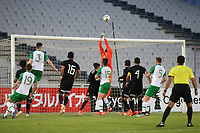Mexico's goalkeeper, Jose Hernandez, pushes the ball over the crossbar to thwart a Republic of Ireland attack during Republic Of Ireland Under-21 vs Mexico Under-21, Tournoi Maurice Revello Football at Stade Parsemain on 6th June 2019