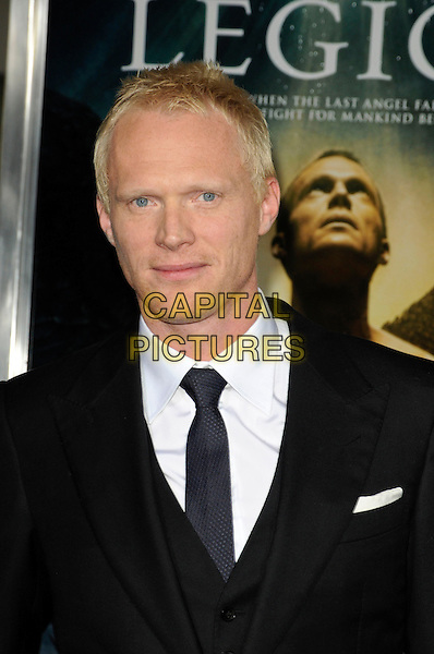 "PAUL BETTANY .Arriving at the world premiere of ""Legion"" at the ArcLight Hollywood Cinerama Dome in Hollywood, California, USA, January 21st, 2010..portrait headshot  white black suit tie shirt .CAP/ROT.©Lee Roth/Capital Pictures"