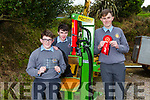 CBS students Padraig Crean, Mike Carroll and Michael Kirby who won 1st prize in the BT Young Scientists with book and module on Farm Safety.