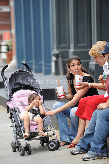 WWW.ACEPIXS.COM . . . . . ....July 17 2009, New York City....Baby Emme Lopez, Lynda Lopez and Gueadalupe Lopez watched as actress Jennifer Lopez was on the set of the new movie 'The Back-up plan' on July 17 2009 in New York city....Please byline: KRISTIN CALLAHAN - ACEPIXS.COM.. . . . . . ..Ace Pictures, Inc:  ..(212) 243-8787 or (646) 679 0430..e-mail: picturedesk@acepixs.com..web: http://www.acepixs.com