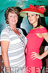 Therese Ferris Beaufort and model Lorraine Turner at the Macbees fashion show in the Killarney Park Hotel on Saturday  .