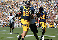 Mike Mohammed carries the ball after the interception. The California Golden Bears defeated the Colorado Buffaloes 52-7 at Memorial Stadium in Berkeley, California on September 11th, 2010.