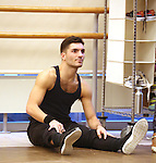 Sean Rozanski warms up during the North American Premiere presentation of 'The Bodyguard' at The New 42nd Street Studios on November 10, 2016 in New York City.