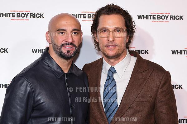 "LONDON, UK. November 27, 2018: Yann Demange & Matthew McConaughey at the ""White Boy Rick"" screening at the Picturehouse Central, London.<br /> Picture: Steve Vas/Featureflash"