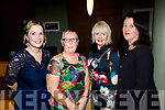 Enjoying the Abbeydorney Hurling annual social last Saturday night in the Ballyroe heights hotel, Tralee, were L-R Aine Behan, Sue Hinchliffe, Suzan Griffin and Ann O'Connell.