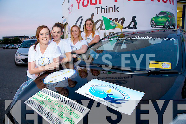 32 Counties In 24 Hours Car Dive for four Kerry Girls in aid of Recovery Haven launched on Monday, Pictured l-r  Nicola Baker, Abbeydorney, Karen McKenna, Lixnaw, Joanne Coffey, Ardfert, Linda Murphy, Ardfert,