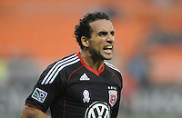 D.C. United forward Dwayne De Rosario (7) celebrates his score in the 73th minute of the game. D.C. United tied The Portland Timbers 1-1at RFK Stadium, Wednesday October 19, 2011.