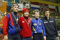 SCHAATSEN: HEERENVEEN: IJsstadion Thialf, 04-03-2005, VikingRace, Thomas Krol (NED), Sverre Lunde Pedersen (NOR), Sven Kramer, ©foto Martin de Jong