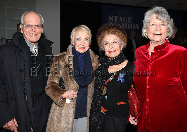 Dick Moore & Jane Powell & Marge Champion & Louise Hirschfeld Cullman.attends the reception and unveiling for the Al Hirschfeld permanent installation at The New York Public Library for Performing Arts in New York City..