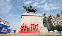 Picture by Allan McKenzie/SWpix.com - 24/09/2017 - Cycling - HSBC UK City Ride Liverpool - Albert Dock, Liverpool, England - #Letsride signage, Liver building.