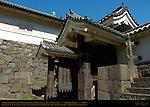 Shimizumon original Edo Castle gate c. 1615 Masugatamon Kouraimon outer gate Hikaebashira roofed support pillars Imperial Palace Tokyo