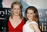 "WESTWOOD, CA. - July 27: Meryl Streep and Amy Adams arrive at the Los Angeles screening  of ""Julie & Julia"" at the Mann Village Theatre on July 27, 2009 in Westwood, California."