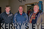 OPENING: At the opening of the new sports and community centre in Annascaul were l-r: Weeshie Lynch, Derry Murphy, Rory O'Shea.   Copyright Kerry's Eye 2008