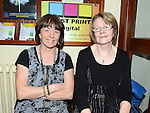 Helen Seagrave and Karen Murtagh pictured at the Ceilí and set dancing weekend at An Grianán. Photo:Colin Bell/pressphotos.ie