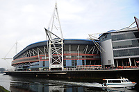 Pictured: A general view of the Principality Stadium during the Guinness six nations match between Wales and England at the Principality Stadium, Cardiff, Wales, UK.<br /> Saturday 23 February 2019