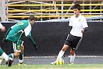 Palos Verdes, CA 02/07/12 - Tony Bumatay (Peninsula #5) in action during the Mira Costa vs Peninsula Boys Varsity soccer bay league game.