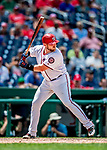 1 August 2018: Washington Nationals catcher Spencer Kieboom in action against the New York Mets at Nationals Park in Washington, DC. The Nationals defeated the Mets 5-3 to sweep the 2-game weekday series. Mandatory Credit: Ed Wolfstein Photo *** RAW (NEF) Image File Available ***
