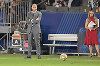 CARSON, CA - SEPTEMBER 15: Sporting Kansas City's head coach Peter Vermes during a game between Sporting Kansas City and Los Angeles Galaxy at Dignity Health Sports Complex on September 15, 2019 in Carson, California.