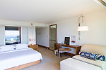 A guest room at the Andaz hotel in Wailea, Maui, Hawaii