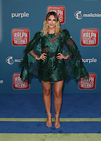 HOLLYWOOD, CA - NOVEMBER 5: Julia Michaels, at Premiere Of Disney's &quot;Ralph Breaks The Internet&quot; at The El Capitan Theatre in Hollywood, California on November 5, 2018. <br /> CAP/MPI/FS<br /> &copy;FS/MPI/Capital Pictures