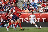 David Silva (21) of Spain gets behind the United States defense. The men's national team of Spain (ESP) defeated the United States (USA) 4-0 during a International friendly at Gillette Stadium in Foxborough, MA, on June 04, 2011.