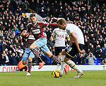 Tottenham's Harry Kane scoring his sides second goal<br /> <br /> Barclays Premier League - Tottenham Hotspur  vs West Ham  - White Hart Lane - England - 22nd February 2015 - Picture David Klein/Sportimage
