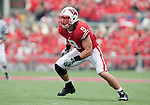 Wisconsin Badgers linebacker Blake Sorensen (9) during an NCAA college football game against the San Jose State Spartans on September 11, 2010 at Camp Randall Stadium in Madison, Wisconsin. The Badgers beat San Jose State 27-14. (Photo by David Stluka)