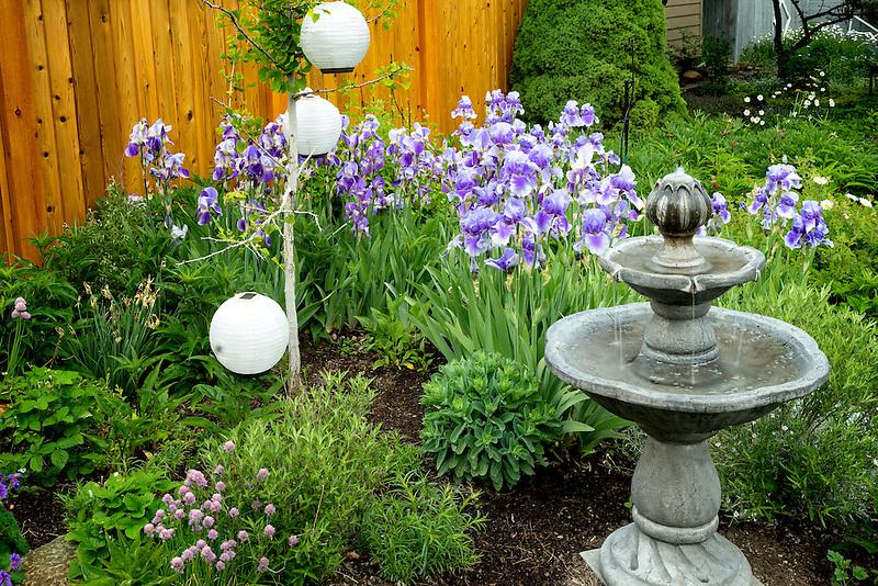 Garden at the Bronze Antler bed and breakfast. Joseph, Oregon