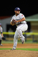Mahoning Valley Scrappers pitcher Yoiber Marquina (36) delivers a pitch during a game against the Batavia Muckdogs on July 3, 2015 at Dwyer Stadium in Batavia, New York.  Batavia defeated Mahoning Valley 7-4.  (Mike Janes/Four Seam Images)