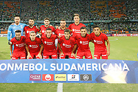 MEDELLIN - COLOMBIA, 05-02-2020: Jugadores de Huracán posan para una foto previo al e partido entre Atlético Nacional de Colombia y Huracán de Argentina por la primera fase, ida, de la Copa CONMEBOL Sudamericana 2020 jugado en el estadio Atanasio Girardot de la ciudad de Medellín. / Players of Huracan pose to a photo prior match between Atletico Nacional of Colombia and Huracan of Argentina for the first phase as part of Copa CONMEBOL Sudamericana 2020 played at Atanasio Girardot stadium of Medellin city. Photo: VizzorImage / Donaldo Zuluaga / Cont
