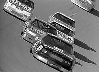 Dale Earnhardt 3 leads turn 4 action Winston 500 at Talladega Superspeedway in Talladega , AL in May 1989.  (Photo by Brian Cleary/www.bcpix.com)