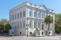 The historic Adamesque City Hall on Broad Street in Charleston, South Carolina.
