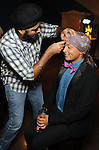 "Francisco Hernandez has a turban tie wrapped on his head by Gurpreet Singh at the Museum of Fine Arts Houston's 2013 Grand Gala ""India"" Friday Oct. 04,2013.(Dave Rossman photo)"
