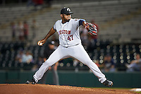 Glendale Desert Dogs pitcher Rogelio Armenteros (47), of the Houston Astros organization, during a game against the Scottsdale Scorpions on October 14, 2016 at Scottsdale Stadium in Scottsdale, Arizona.  Scottsdale defeated Glendale 8-7.  (Mike Janes/Four Seam Images)