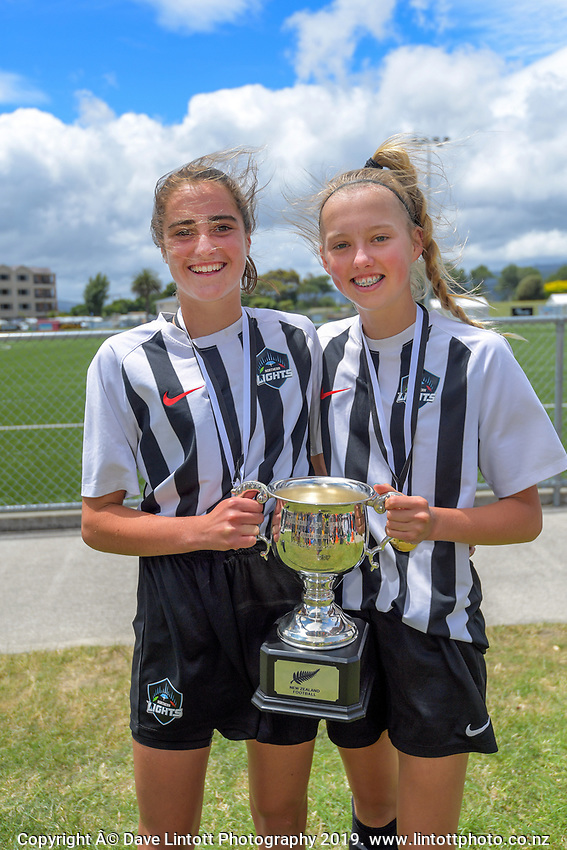 Northern under-16 division winners. 2019 National Age Group Tournament football awards ceremony at Memorial Park in Petone, Wellington, New Zealand on Sunday, 15 December 2019. Photo: Dave Lintott / lintottphoto.co.nz