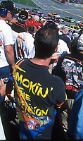 Race fans, UAW-GM Quality 500, Charlotte Motor Speedway, Charlotte, NC, October 11, 2003.  (Photo by Brian Cleary/bcpix.com)
